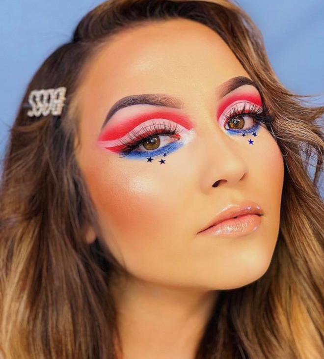 4th of july makeup looks 10