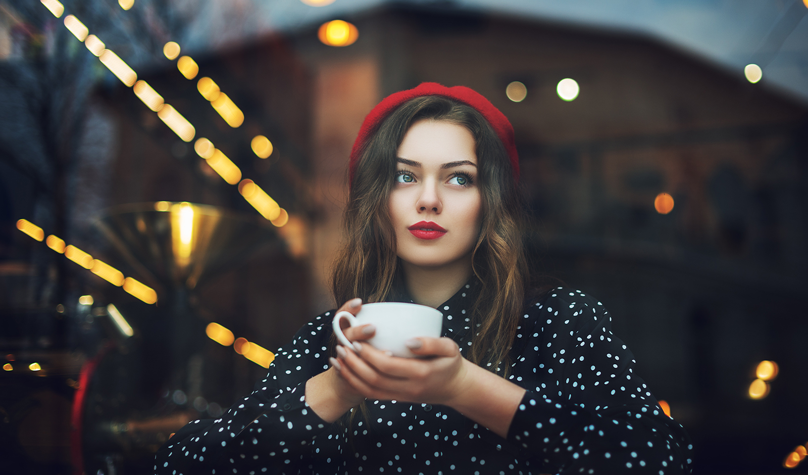 french-woman-makeup-commandments-main-image-woman-in-beret-drinking-coffee