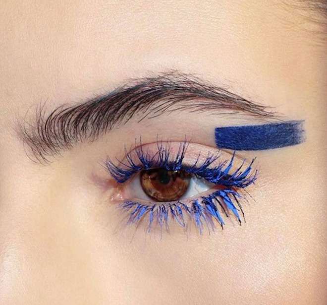 colored lashes makeup trend 8