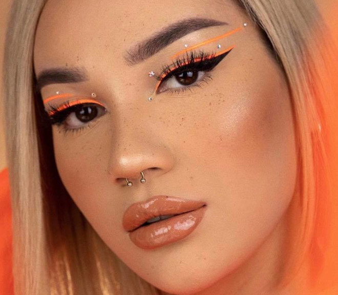 minimally neon makeup trend is the safest way to wear bright hues 2