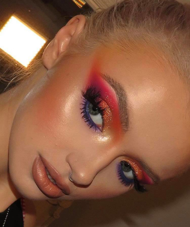 sunset eyeshadow makeup looks for summer 6