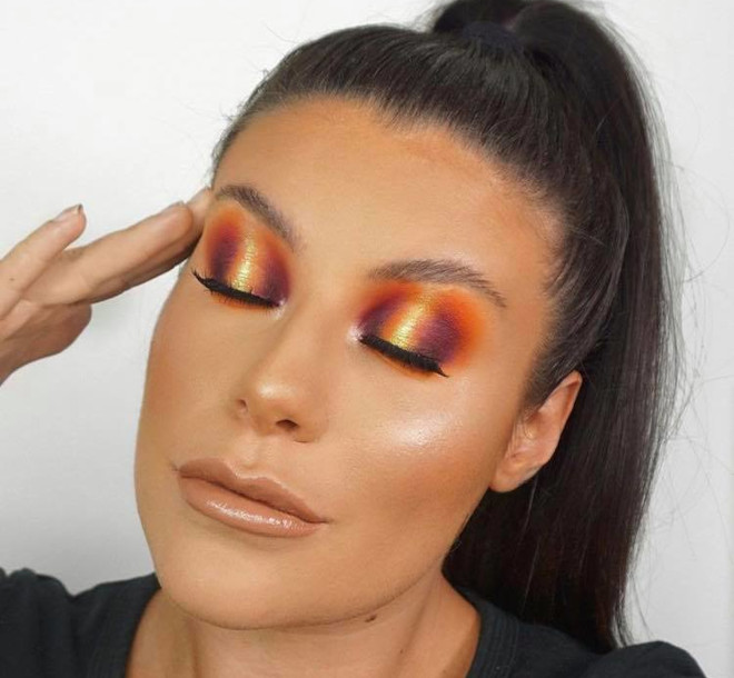 sunset eyeshadow makeup looks for summer 9
