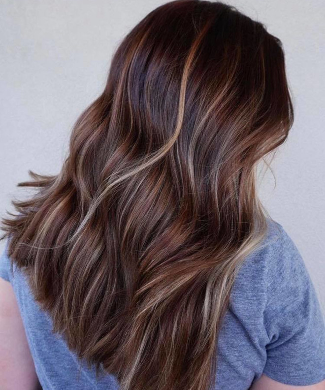 chocolate almond hair color trend 7