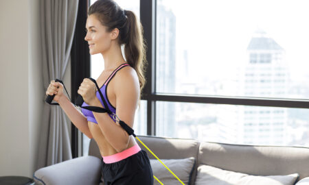 how-instagram-fitness-culture-changed-workouts-woman-working-out-at-home