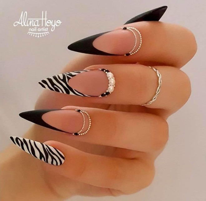 modern french manicure ideas 7