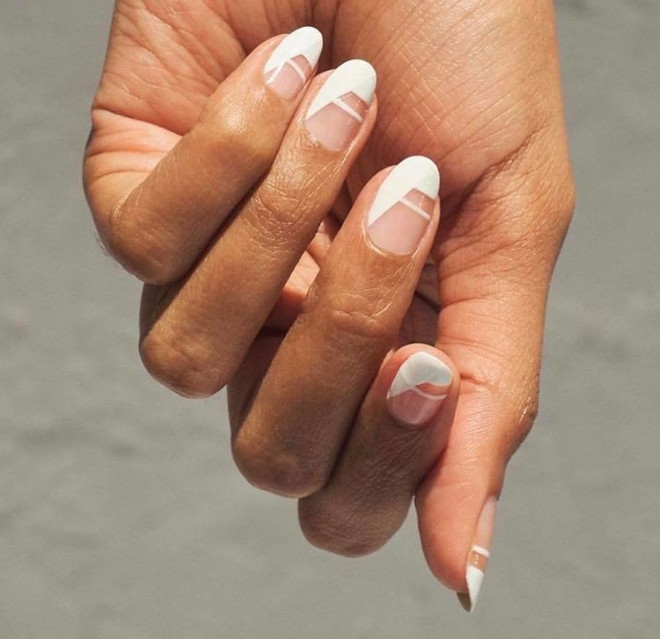 modern french manicure ideas for fall 2