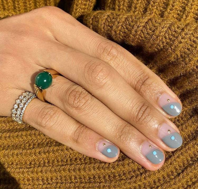 modern french manicure ideas for fall 4