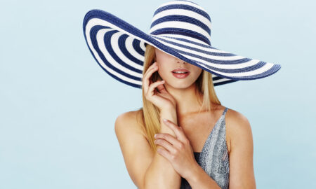 newest-fashion-fabrics-woman-wearing-fashionable-large-hat-main-image