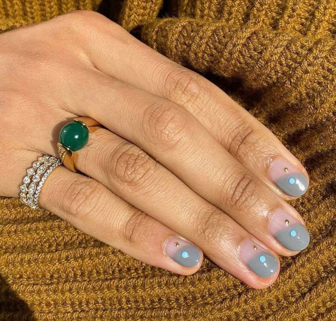 short french manicure ideas for fall 5