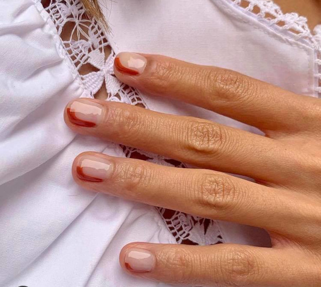 short french manicure ideas for fall 7