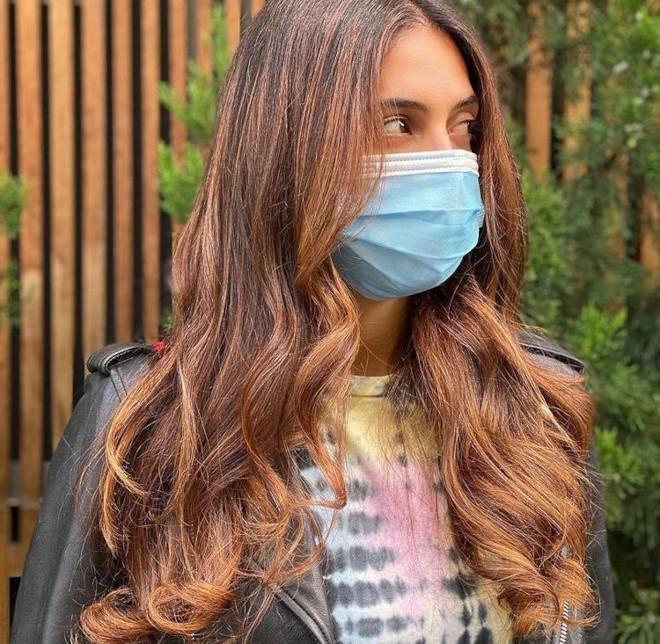 cinnamon balayage hair color trend 3