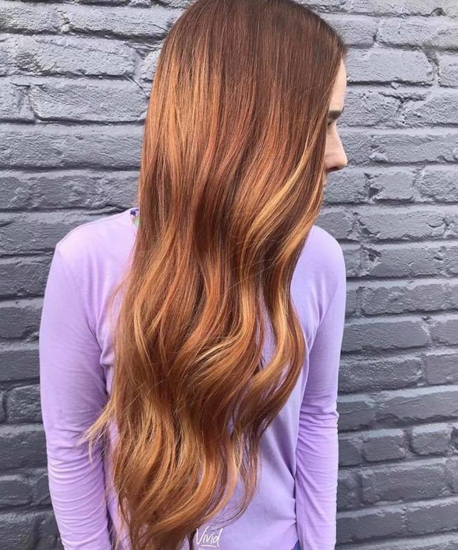 cinnamon balayage hair color trend 6