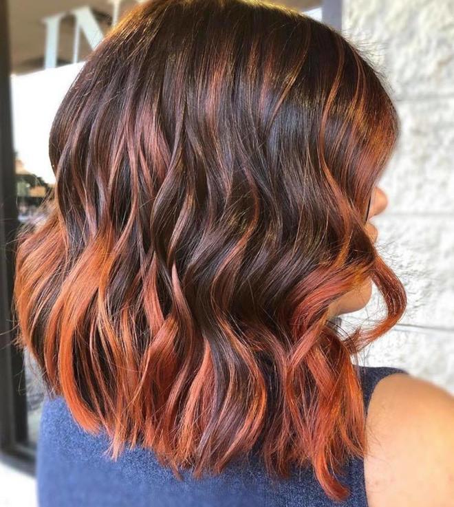 cinnamon balayage hair color trend 7