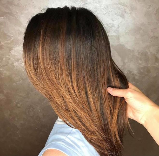 cinnamon balayage hair color trend 9