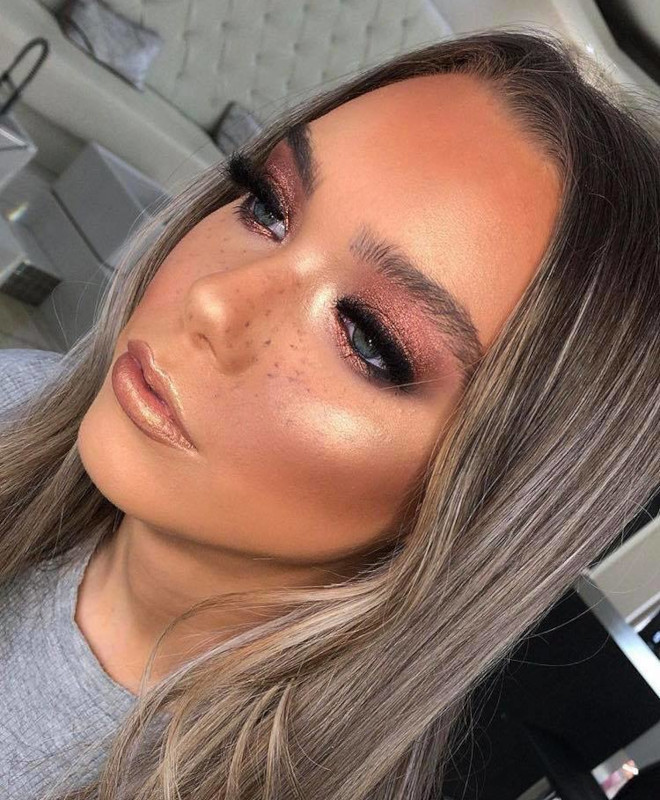 copper smoky eyes will replace the classic black glam this fall