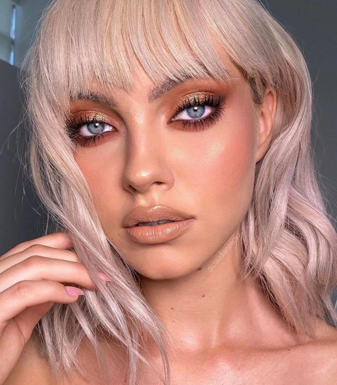 copper smoky eyes will replace the classic black glam this fall 7