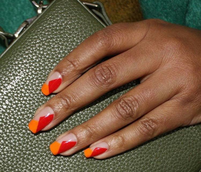 orange nails are perfect for fall 5