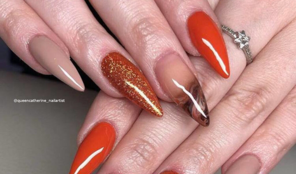Orange Nails Are Perfect For Fall