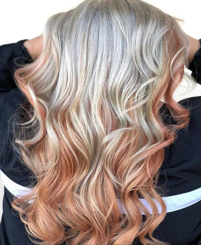 peachy blonde is the perfect light hair color for fall 4