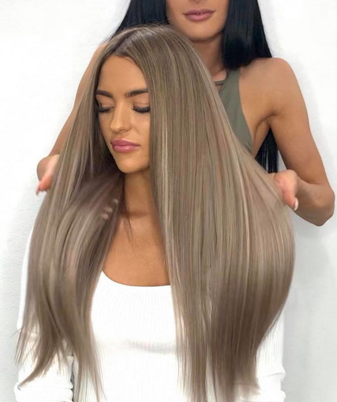 ash brown hair color for winter