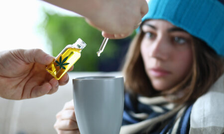 cannabis-and-anxiety-depression-ptsd-woman-getting-cannabis-in-tea