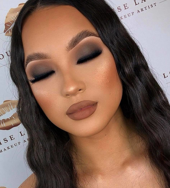 neutral holiday makeup looks 9