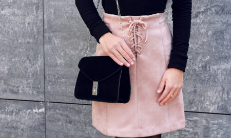 ultra-girly-trend-cutest-girly-style-woman-in-pink-skirt-and-black-top