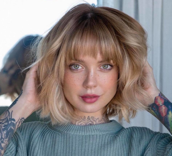 chic lob haircut ideas to refresh your look for spring 7