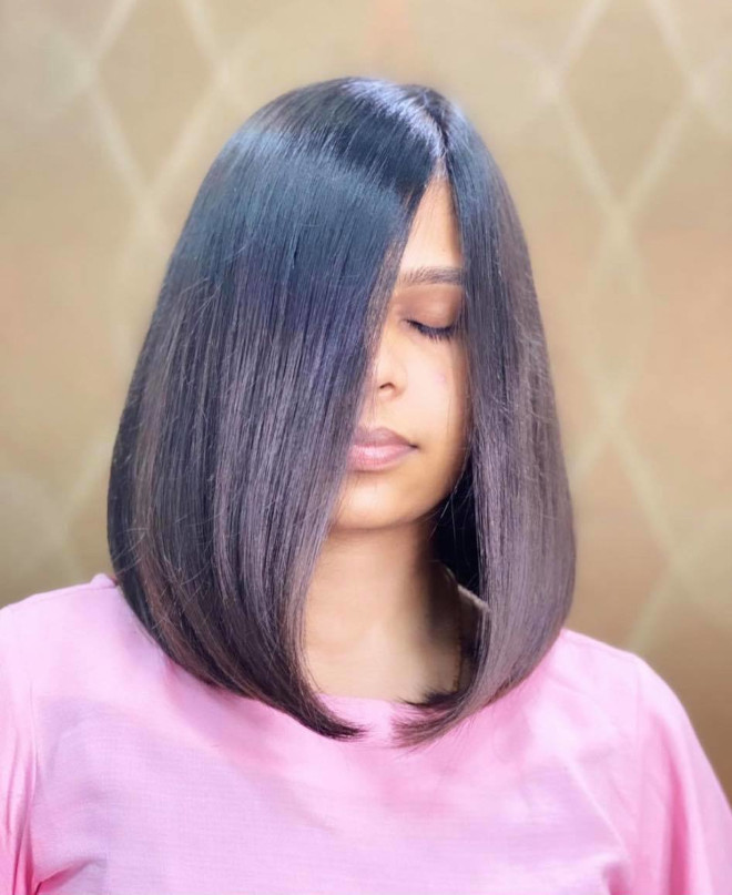 chic lob haircut ideas to refresh your look for spring 8