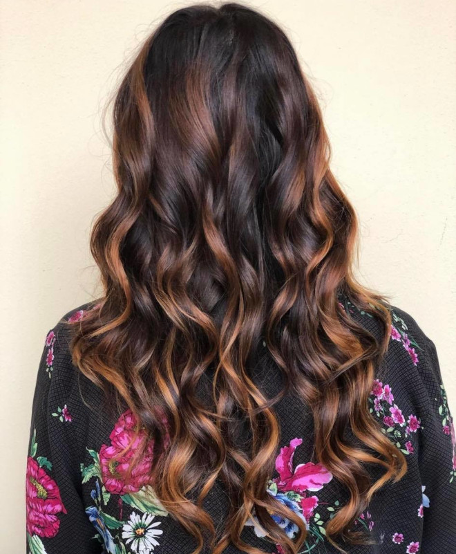 roasted caramel hair is the prettiest spring hair trend for brunettes to try 7