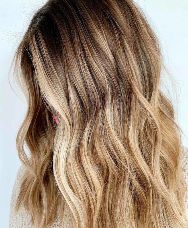 vacation highlights is the low maintenance hair color trend that needs touch-ups every 6 months 9