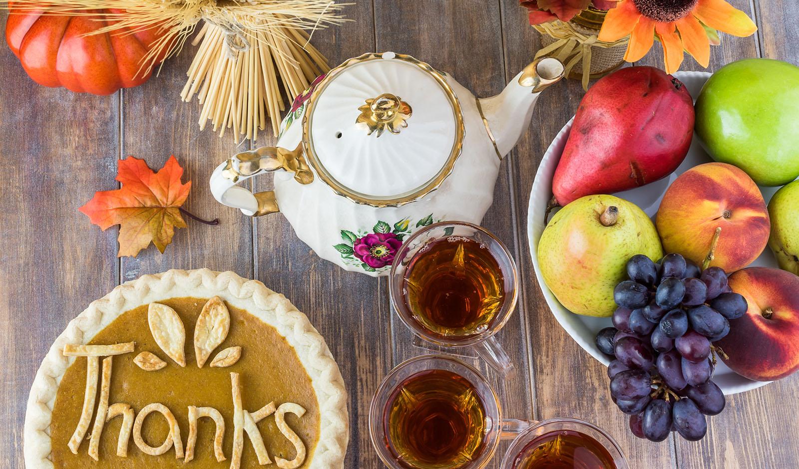 Thanksgiving tea party.