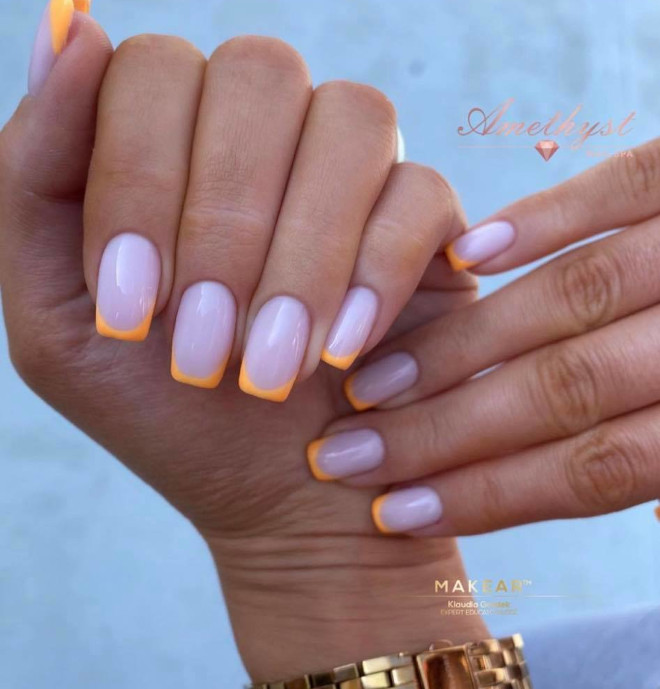 neon french manicure ideas to get your tips ready for summer