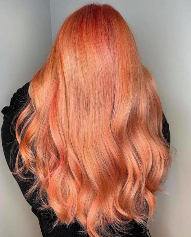 rose aperol spritz hair is the prettiest summer hair trend 2