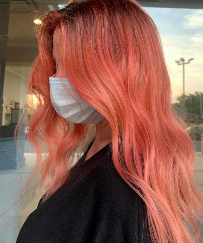 rose aperol spritz hair is the prettiest summer hair trend 7