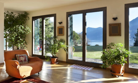mountain view from modern home