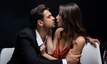loving-sexy-couple-how-often-do-couples-fight-couple-about-to-kiss